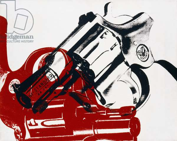Guns, 1981 (synthetic polymer silkscreened on canvas)