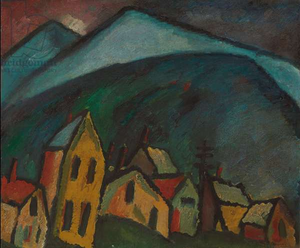 Mountain Landscape with Houses; Berglandschaft mit Hausern, 1912 (oil on canvas)