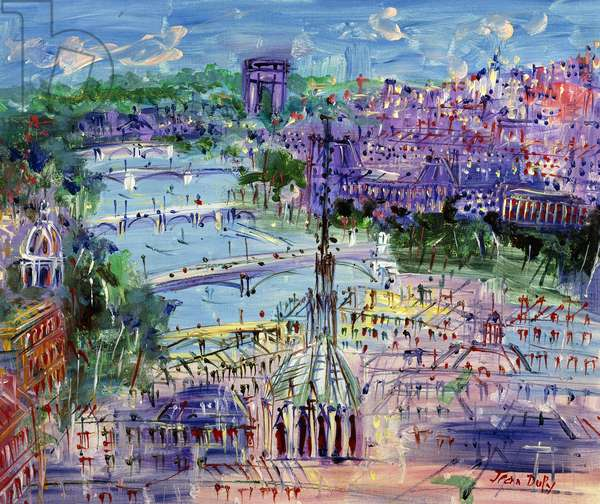 La Seine, Sainte Chapelle, c.1960 (oil on canvas)