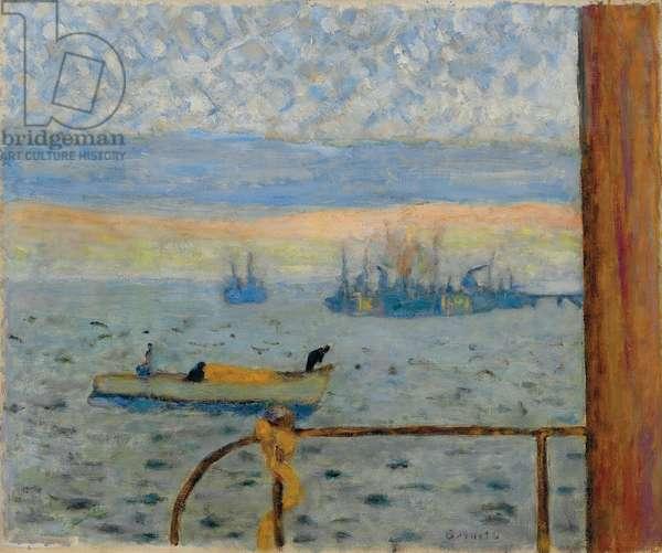 The Harbour; La rade, 1929 (oil on canvas)