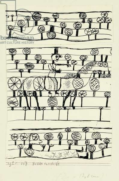 Pictography; Bilder Inschrift, 1920 (pen and india ink on paper)