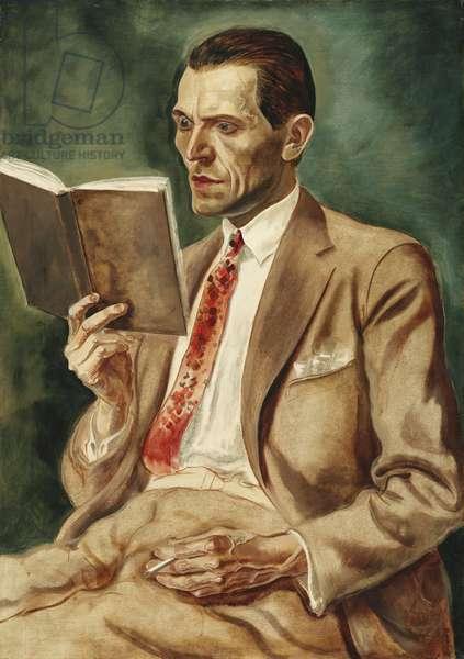 Portrait of John Forste, Man with Glass Eye; Portrat John Forste, Mann Mit Glasauge, 1926 (oil on canvas)