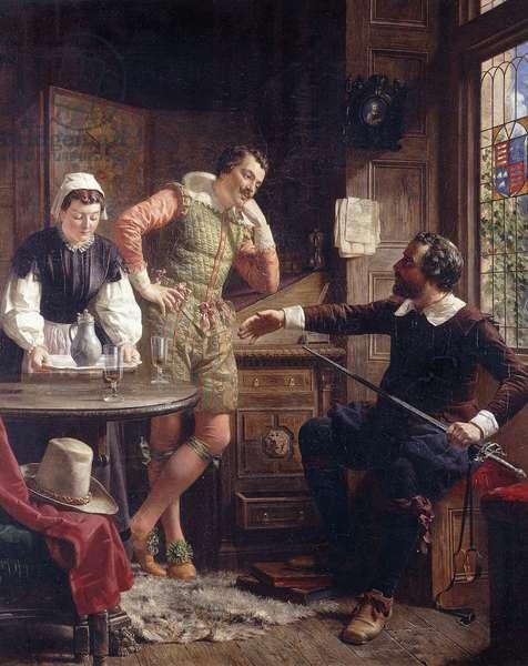 Ben Jonson describing his Duel to Drummond at Hawthornden,  (oil on canvas)