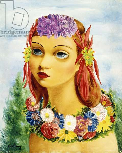 Woman with Flowers, 1939 (oil on canvas)