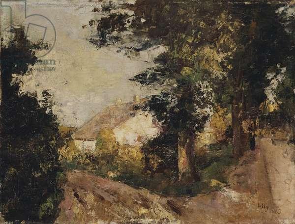 The Village, 1885-1890 (oil on canvas)
