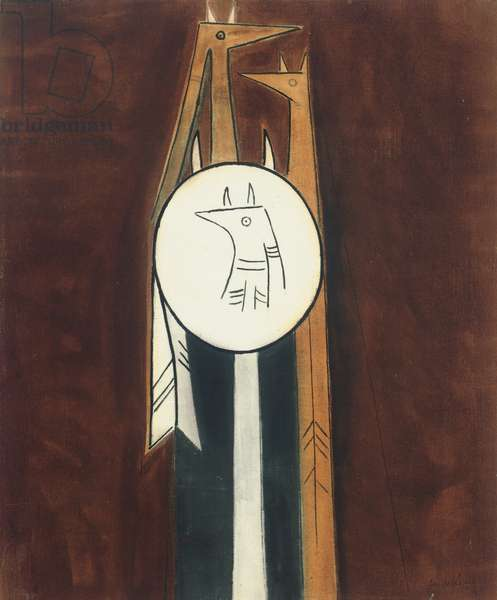 Untitled, 1953 (oil on linen mounted on masonite)
