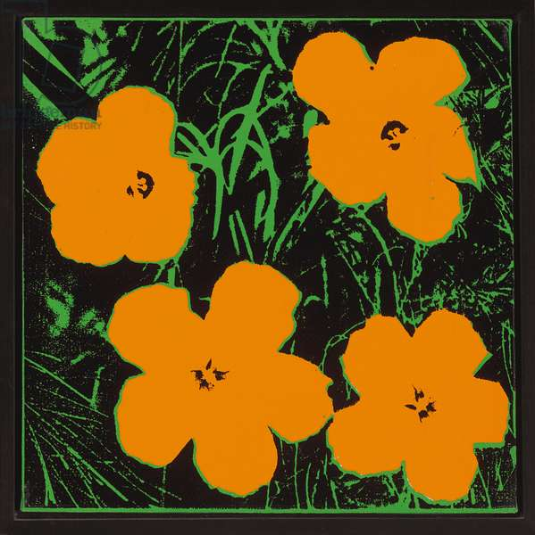 Flowers, 1964 (synthetic polymer and silkscreen inks on canvas)