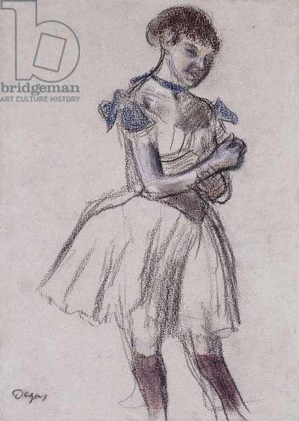 Dancer; Danseuse, c.1880 (pastel on gray paper)