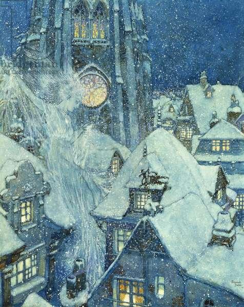 The Snow Queen, 1910 (w/c, gouache, pen & black ink)