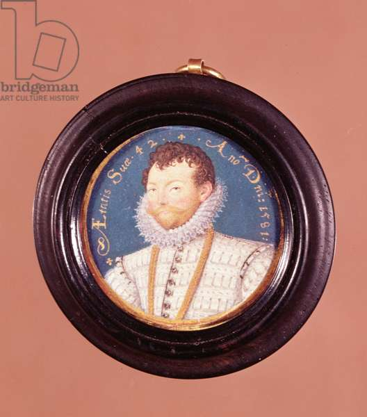 Sir Francis Drake, 1581 (miniature) (see also 6836)