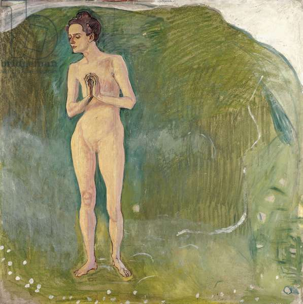 Woman in the Stream, 1903 (oil on Eternit panel)