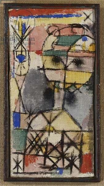 Head, 1919 (tempera on gauze laid down on board)