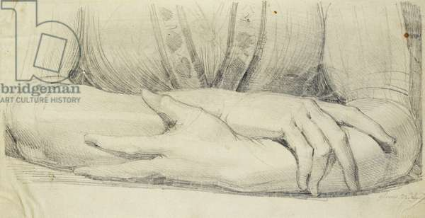 Study of a Woman's Gloved Arms, 1798 (pencil)