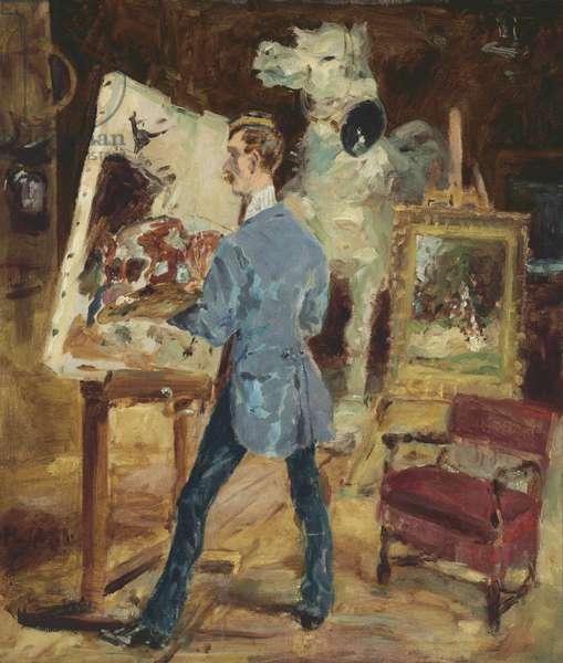 Princeteau in his Studio; Princeteau dans son Atelier, 1881 (oil on canvas)