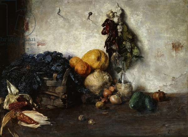 A Still-Life of Vegetables by a Wall, 1890 (oil on canvas)