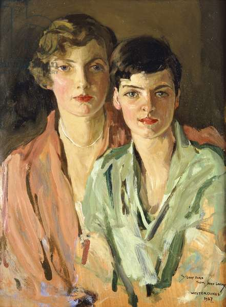 The Sisters, Joan and Marjory, 1927 (oil on panel)