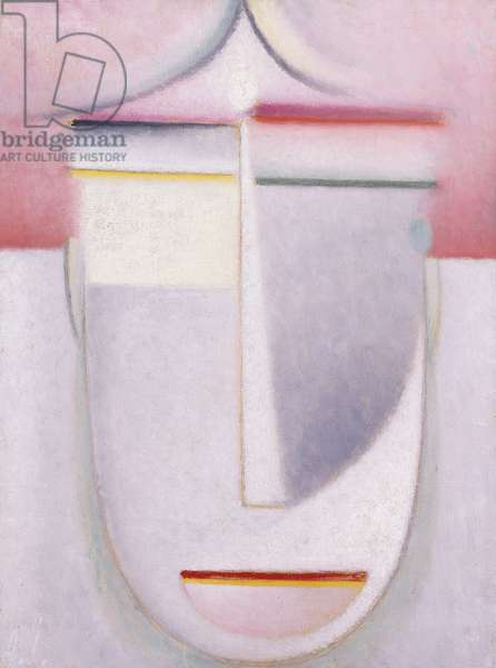 Abstract Head: Composition No 2 'Winter'; Abstraker Kopf: Komposition Nr 2 'Winter', c.1924 (oil on paper laid down on cardboard)