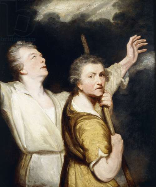 Portrait of the Artist and Thomas Jervais as Adoring Shepherds, (oil on canvas)