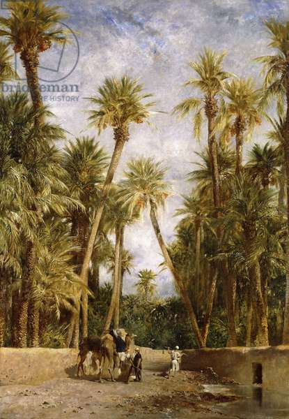 Oasis At Lagrount,  (oil on canvas)