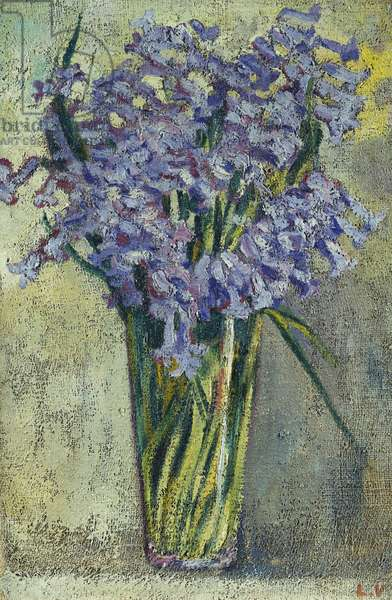 Glass Vase of Flowers, c.1910 (oil on canvas)
