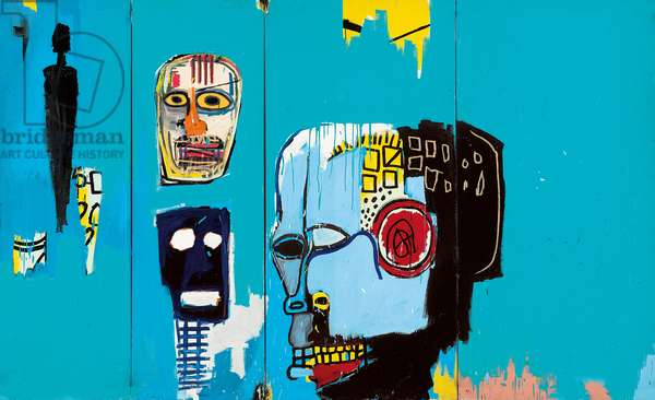 Blue Heads, 1983 (acrylic and oilstick on canvas)
