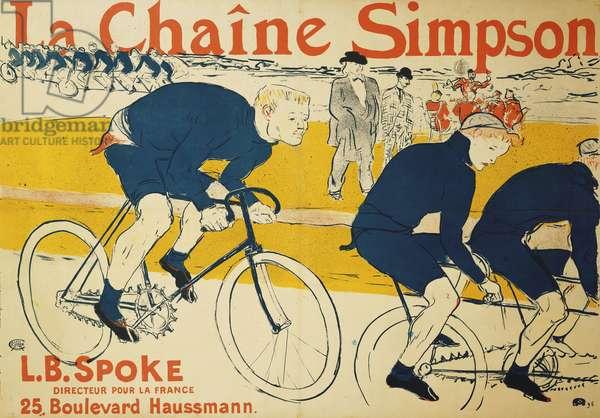 The Simpson Chain; La Chaine Simpson, 1896 (colour Lithograph)