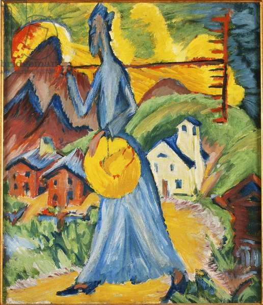 Alpleben, Triptych; Alpleben, Tryptychon, 1918 (oil on canvas)