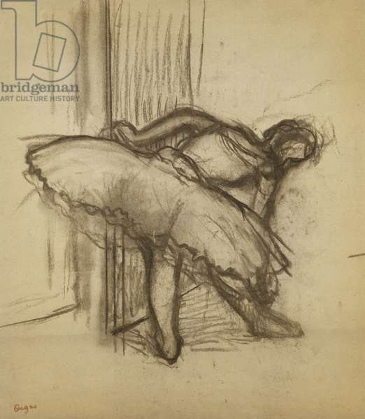 Dancer; Danseuse,  (charcoal on paper)