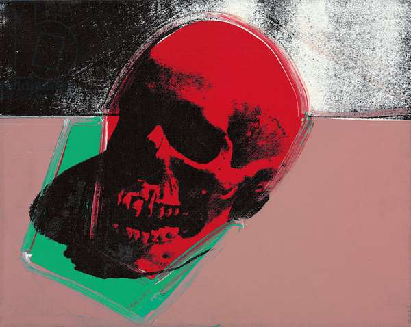 Skull, 1974 (synthetic polymer and silkscreen inks on canvas)