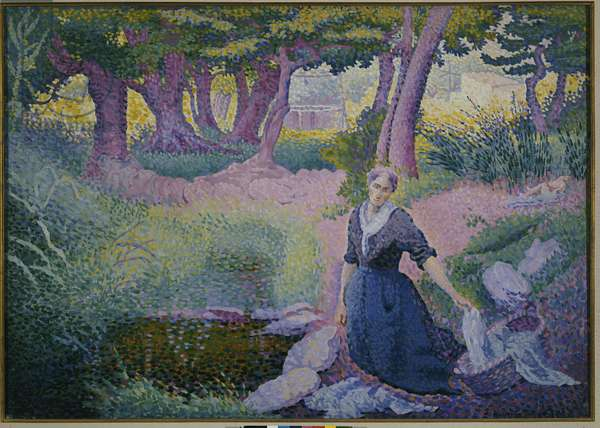The Washerwoman, 1895-96 (oil on canvas)