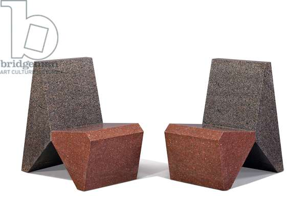 Pair of chairs, 1986 (granite)