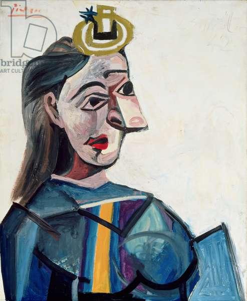 Bust of a Woman (Dora Maar) 1942 (oil on canvas)