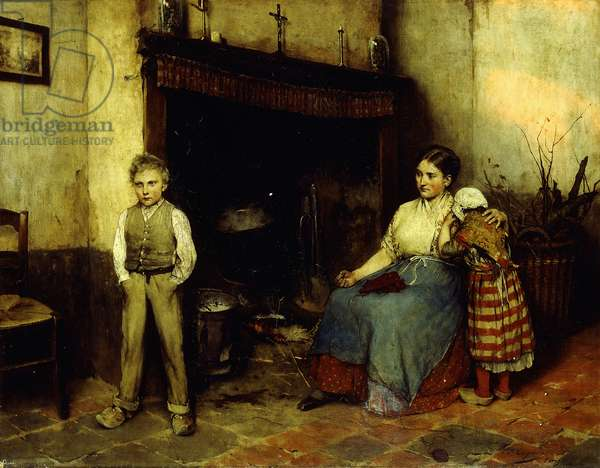 Trouble Brewing, 1883 (oil on canvas)