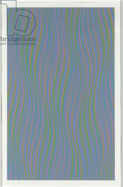 Reverse Curve, 1979 (gouache and graphite on paper)