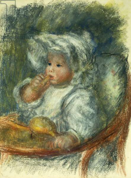 Jean Renoir in a chair - Child with a biscuit; Jean Renoir a la Chaise - L'enfant au Biscuit, c1895 (pastel on paper)
