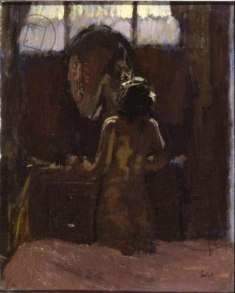 Nude Before a Mirror, Mornington Crescent (oil on canvas)