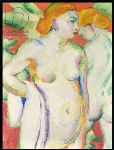 Nudes in Cinnabar (Two Nudes in Red), 1910 (oil on canvas)