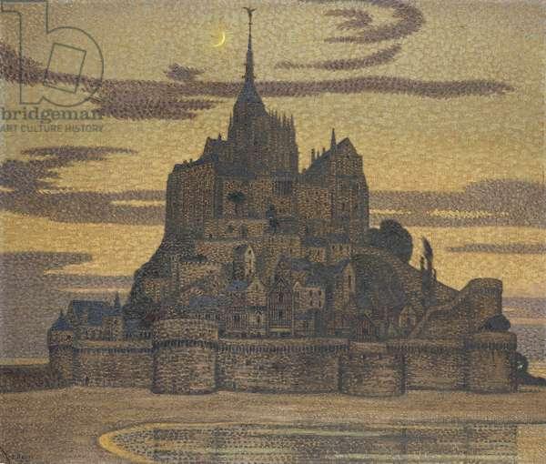 Mont St. Michel,  (oil on canvas)