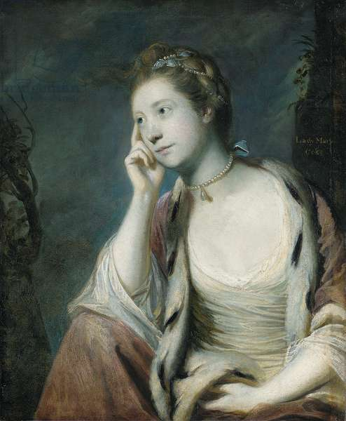 Portrait of Lady Mary Coke, half length, in an ermine-trimmed red cloak (oil on canvas)