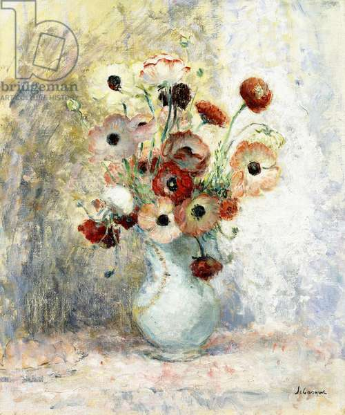 Bouquet of Anemones,  (oil on canvas)