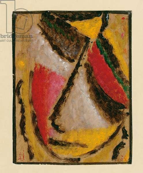 Meditation, 1934 (oil on paper)