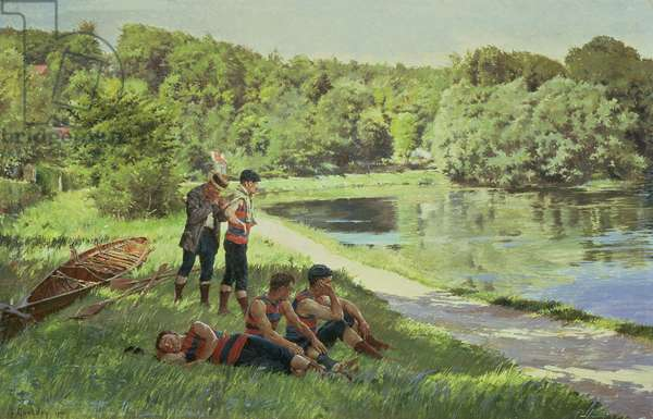 The Team Resting, 1900 (oil on canvas)
