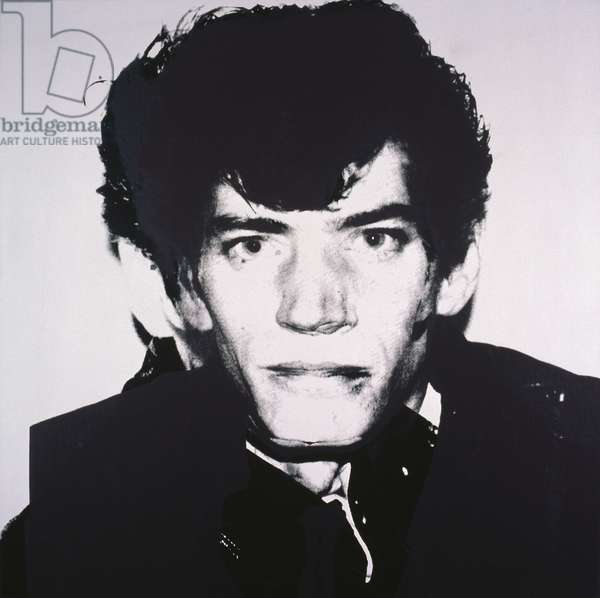 Portrait of Robert Mapplethorpe, 1983 (synthetic polymer silkscreened on canvas)