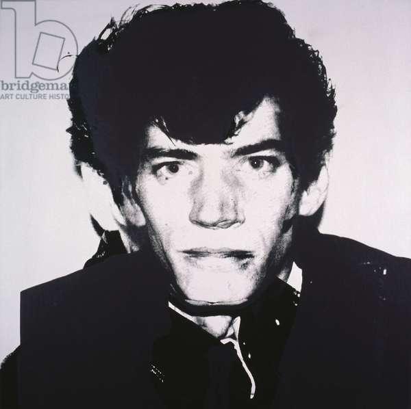 Portrait of Robert Mapplethorpe, 1983 (synthetic polymer silkscreened on canvas)