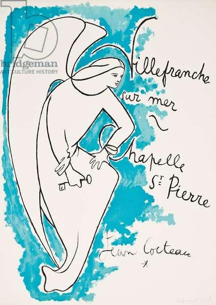 Villefranche sur Mer, Chapelle St. Pierre,  (colour lithograph)