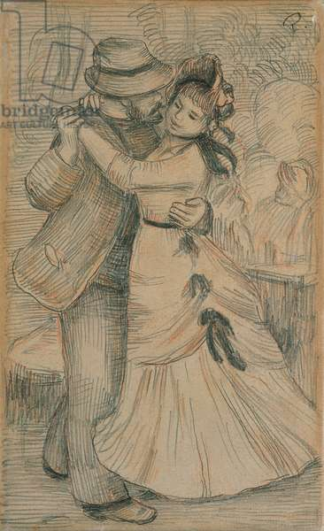 The Country Dance, 1883 (pencil & chalk on paper)
