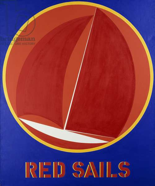 Red Sails,  (acrylic on canvas)