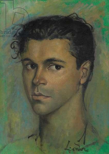 Portait of Cesare Pavani  (oil on paper)