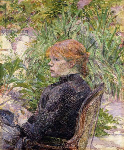 Redheaded Woman Sitting in the Garden of Mr, 1889 (oil on canvas)