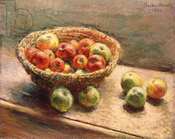A Bowl of Apples; Le Panier de Pommes, 1880 (oil on canvas)
